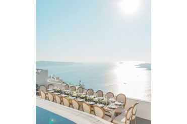 Wedding Reception In Santorini